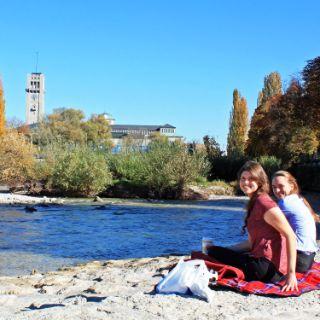 Isarufer bei der Reichenbachbrücke