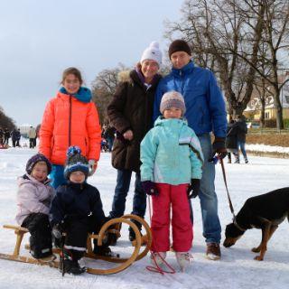 Winterspaß am Schlosskanal