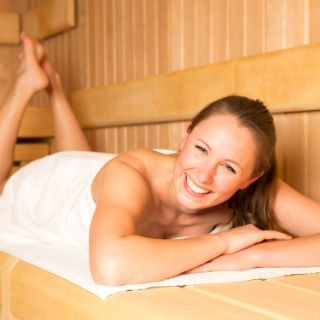 Sauna zum Aufwärmen