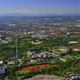 Luftaufnahme vom Olympiapark