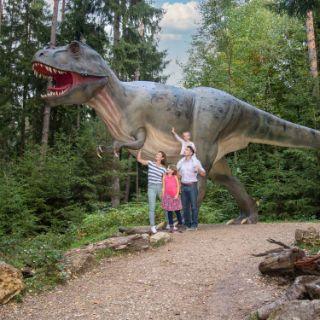 Den Urzeitriesen auf der Spur im Dino-Park Bayern