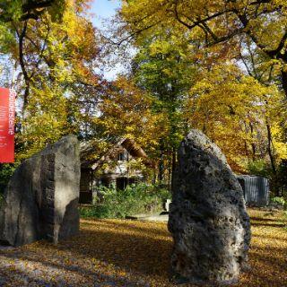 Bouldersteine im Garten