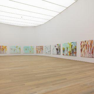 Innenansicht Museum Brandhorst mit dem Werk Lepanto von Cy Twombly