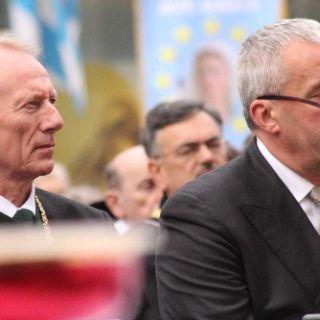 Hep Monatzeder, 3. Oberbürgermeister (links), Ludwig Spänle, Kultusminister