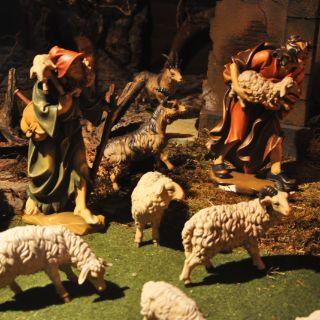 Weihnachtskrippe in der Kirche Mariä Heimsuchung