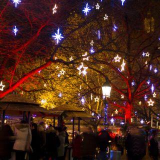 Weihnachtliches Lichtermeer
