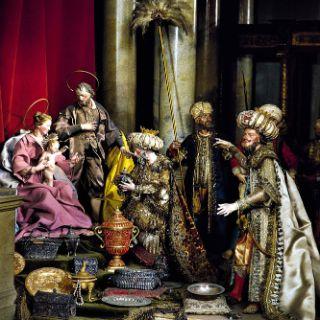 Anbetung der Könige in einem Marmorpalast