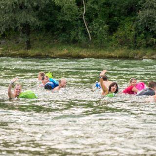 Schwimmabenteuer bis zur Reichenbachbrücke