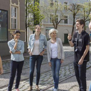 Die Bavaria Filmstadt in Geiselgasteig bei München