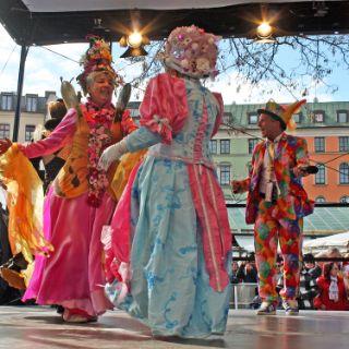 Beste Stimmung beim Tanz der Marktweiber