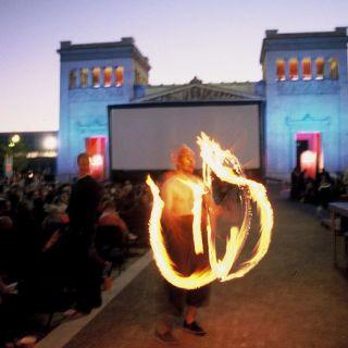 Impressionen vom Kino Open Air am Königsplatz