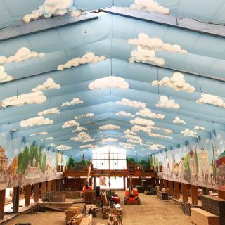 Die Zelte von innen