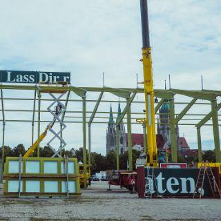 Die erste Woche des Wiesn-Aufbaus 2019