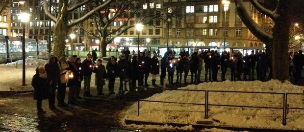 Friedenskette am Sendlinger Tor