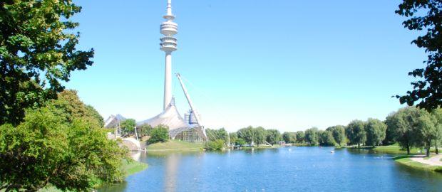 olympiasee, olympiapark, münchen, olympiaturm