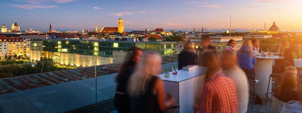 Die Dachterrasse der TU, Cafe Vornhölzer