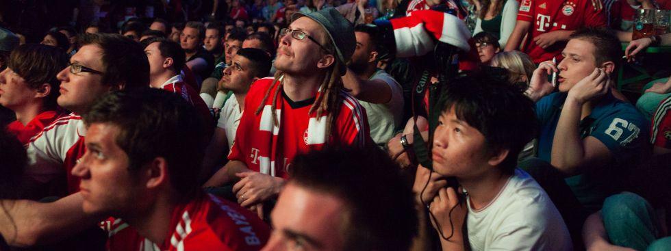 Bayernfans beim Public Viewing