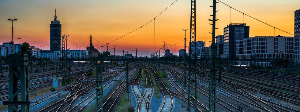 Sonnenuntergang an der Hackerbrücke