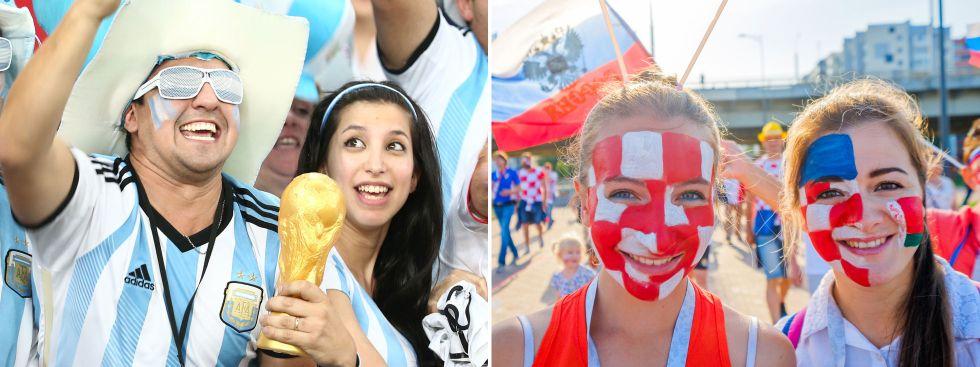 Argentinische und kroatische Fans