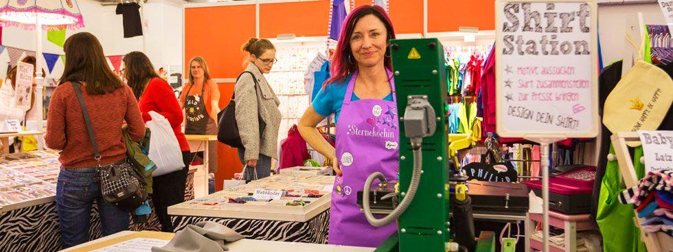 Shirts designen auf der Creativmesse