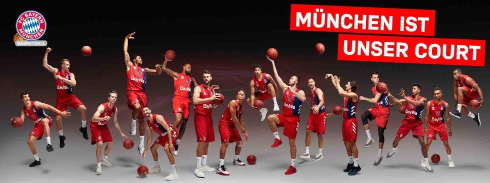 Spieler des FC Bayern Basketball