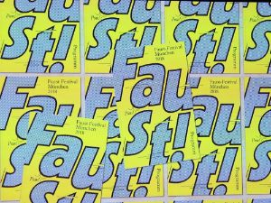 Plakat zum Faust-Festival München 2018, Foto: muenchen.de/Immanuel Rahman