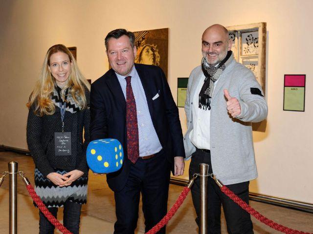 Eröffnung MUCA Museum mit den Gründern Stephanie und Christian Utz und Bürgermeister Josef Schmid, Foto: Brauer Fotos - Dominik Beckmann