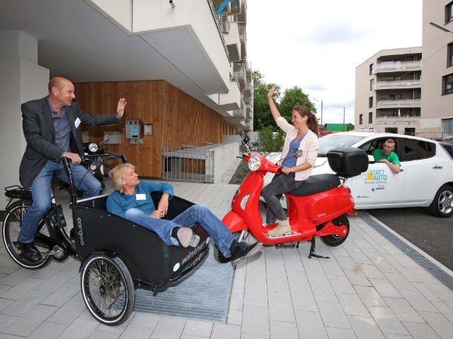 Impressionen von der Eröffnung der 1. Münchner E-Sharing-Station., Foto: Michael Nagy/Presseamt München