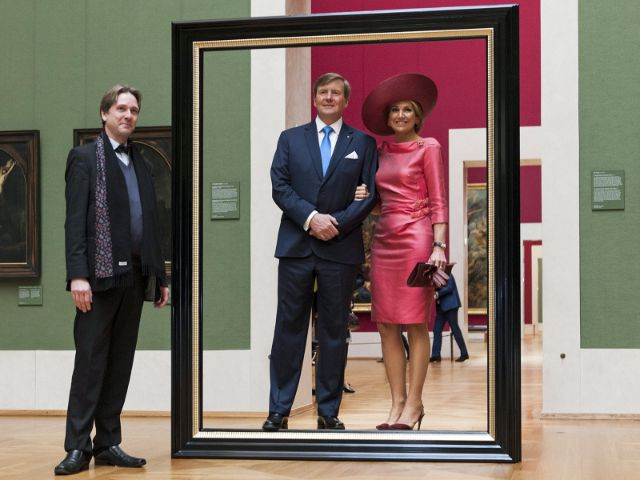 König Willem-Alexander und Königin Máxima der Niederlande in der Alten Pinakothek, Foto: Johannes Haslinger