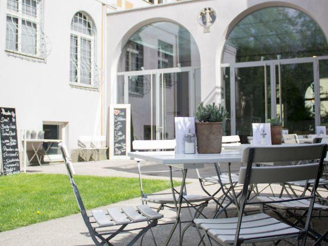 Café in der Villa Stuck., Foto: Schoeller & von Rehlingen