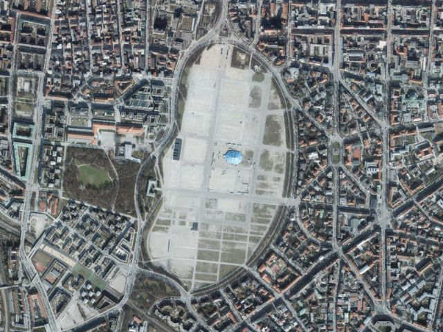 Luftbild München: Theresienwiese, Foto: GeodatenService München