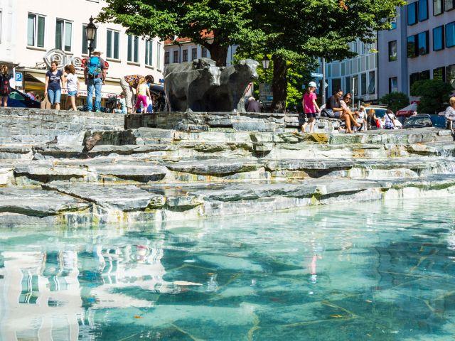Brunnen am Rindermarkt, Foto: muenchen.de/Michael Hofmann