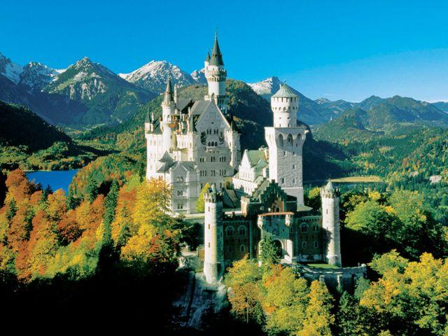 Schloss Neuschwanstein im Herbst, Foto: Bayerische Schlösserverwaltung