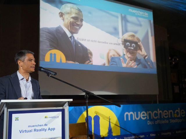 Präsentation der VR-App, Foto: muenchen.de/Dan Vauelle