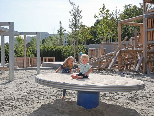 Spielplatz im Heckenstallerpark, Foto: Michael Nagy/Presseamt München