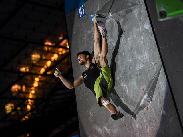 Jan Hojer beim Boulderweltcup, Foto: DAV/ Nils Nöll, 2017