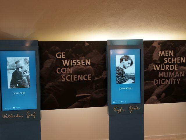 """Neue Dauerausstellung """"Die Weiße Rose – Widerstand gegen die NS-Diktatur"""", Foto: muenchen.de/Dan Vauelle"""