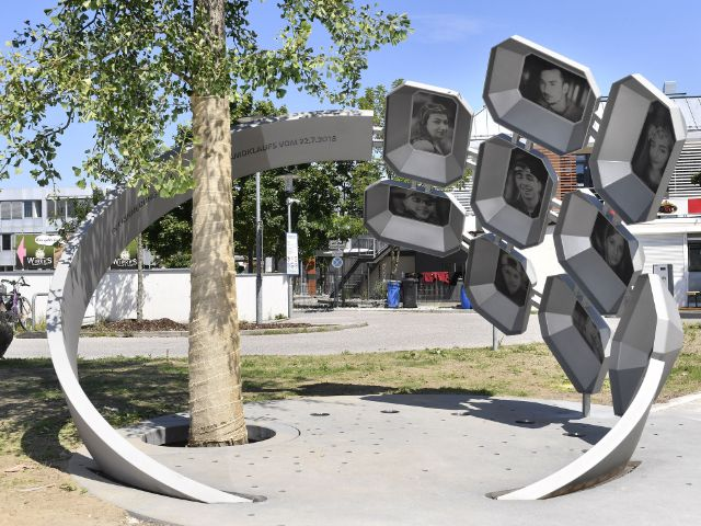 """Das Denkmal """"Für Euch"""" am Erinnerungsort vor dem OEZ, Foto: Kulturreferat der Stadt München"""