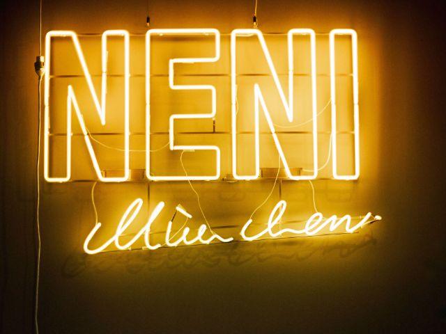 Der Schriftzug des Restaurants Neni am Hauptbahnhof, Foto: Markus Kehl