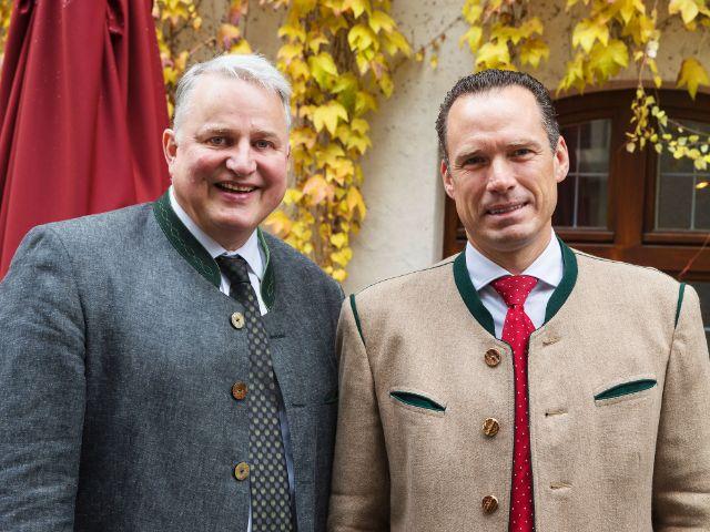 Peter Inselkammer und Christian Schottenhamel als neue Wiesnwirte-Sprecher, Foto: Paulaner am Nockherberg