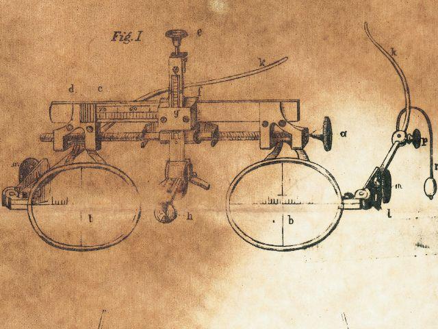 Alter Entwurf einer Rodenstock-Brillenfassung., Foto: Rodenstock