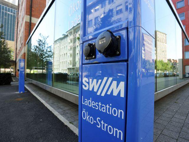 E-Ladestation an der Blumenstraße, Foto: SWM