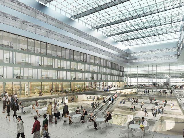 Visualisierung Münchner Hauptbahnhof, Foto: Auer Weber