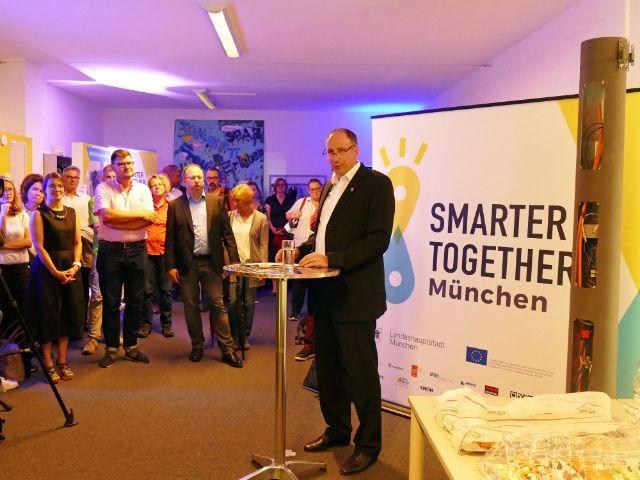 Vorstellung der Intelligenten Lichtmasten: IT-Referent Thomas Bönig, Foto: muenchen.de/Leonie Liebich
