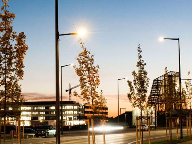 Intelligente Lichtmasten, Projekt Straßenlampen, Foto: LHM Dominik Parzinger