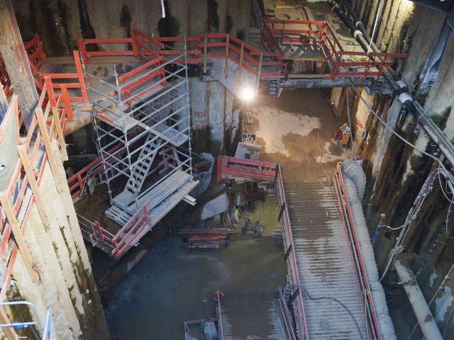 Umbauarbeiten im U-Bahnhof Sendlinger Tor - Fortschritt am 25.10.2018, Foto: muenchen.de / Daniel Vauel