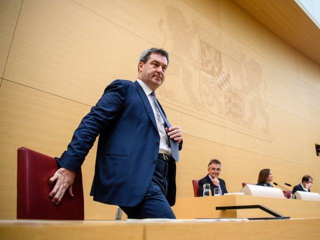 Markus Söder im bayerischen Landtag, Foto: dpa/Matthias Balk