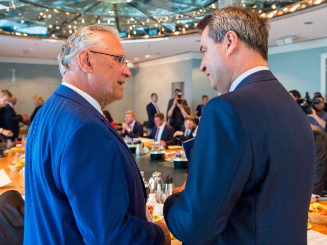 Joachim Herrmann und Markus Söder, Foto: dpa