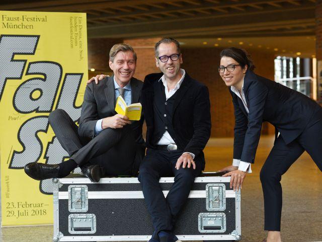 Die Initiatoren des Faust-Festivals (von links): Max Wagner, Roger Diederen und Anna Kleeblatt, Foto: Faustfestival / Robert Haas