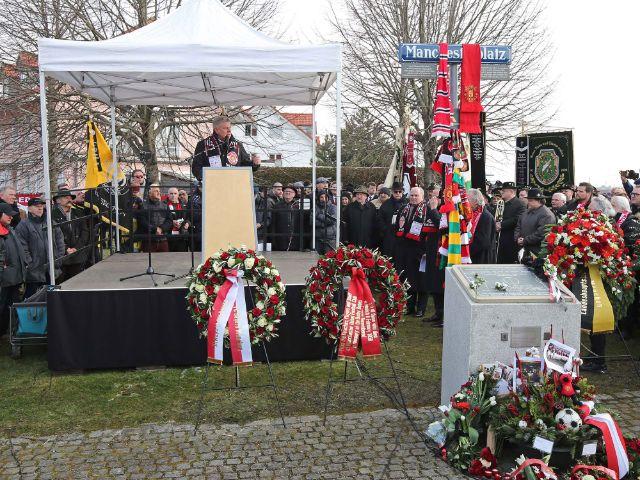 Gedenken am Manchesterplatz, Foto: Landeshauptstadt München/Michael Nagy